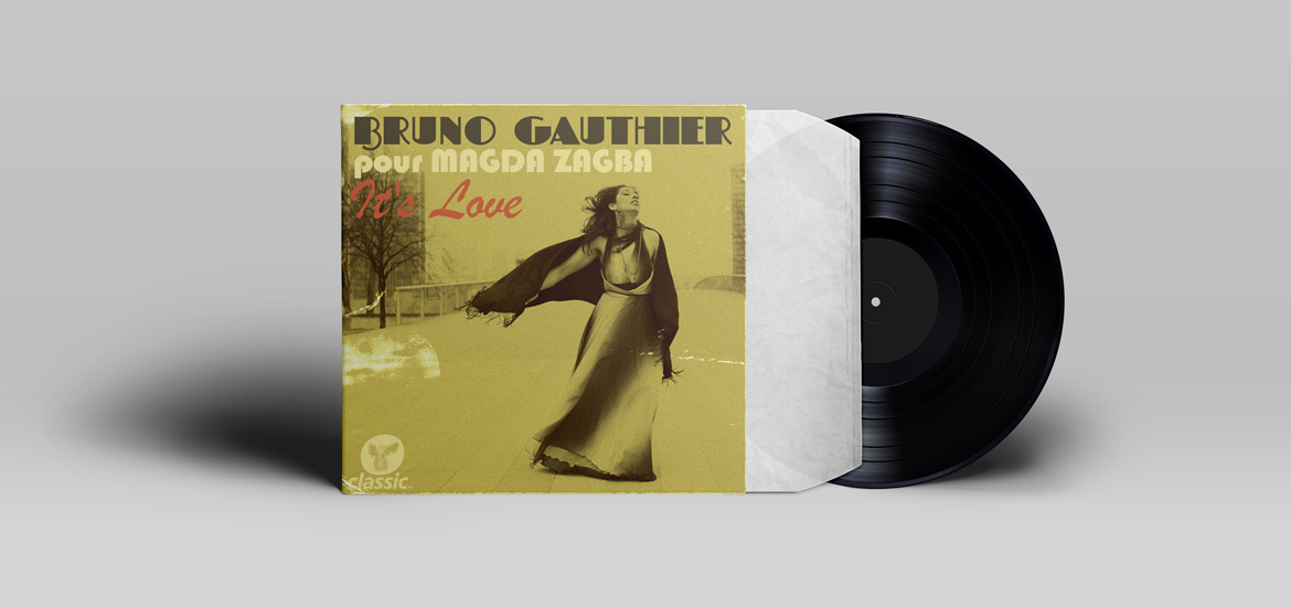 bruno gauthier featuring Magda Zagba It's Love sleeve/artwork